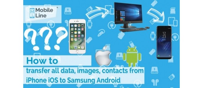 How to transfer all data images, contacts from iPhone iOS to Samsung Android