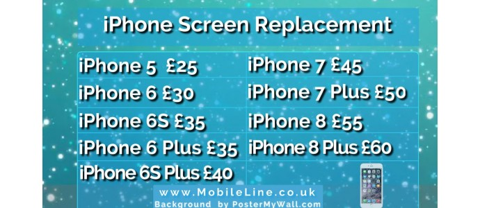Apple iPhone screen replacement near me with amazing prices and high quality parts